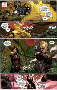 Avengers #1. Kostajat kohtaavat Ex Nihilon. Teksti: Jonathan Hickman. Kuvitus: Jerome Opeña ja Dean White.