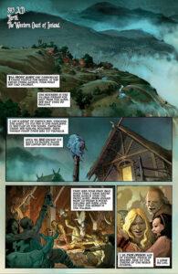 Thor: God of Thunder #1 (2012). Teksti: Jason Aaron, kuvitus: Esad Ribic, Dean White